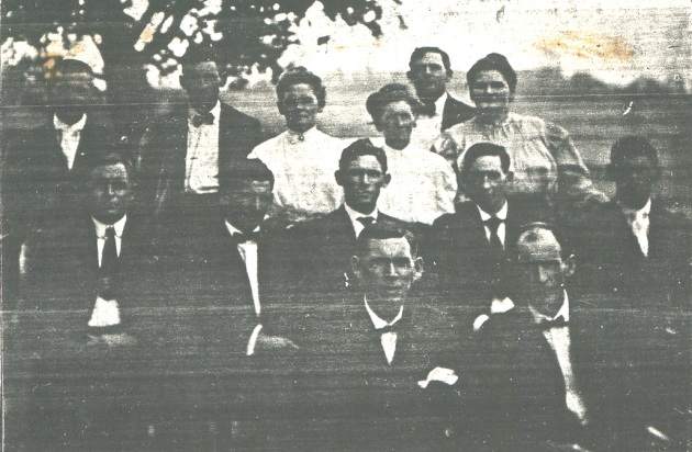 Back Row: Joshua,  Herman,  Mary,  Nancy,  ZachII,  Alice  Middle Row:  John B,  Egbert,  Hugh,  Leroy,  Arthur,  Front Row: Hiram, Robert