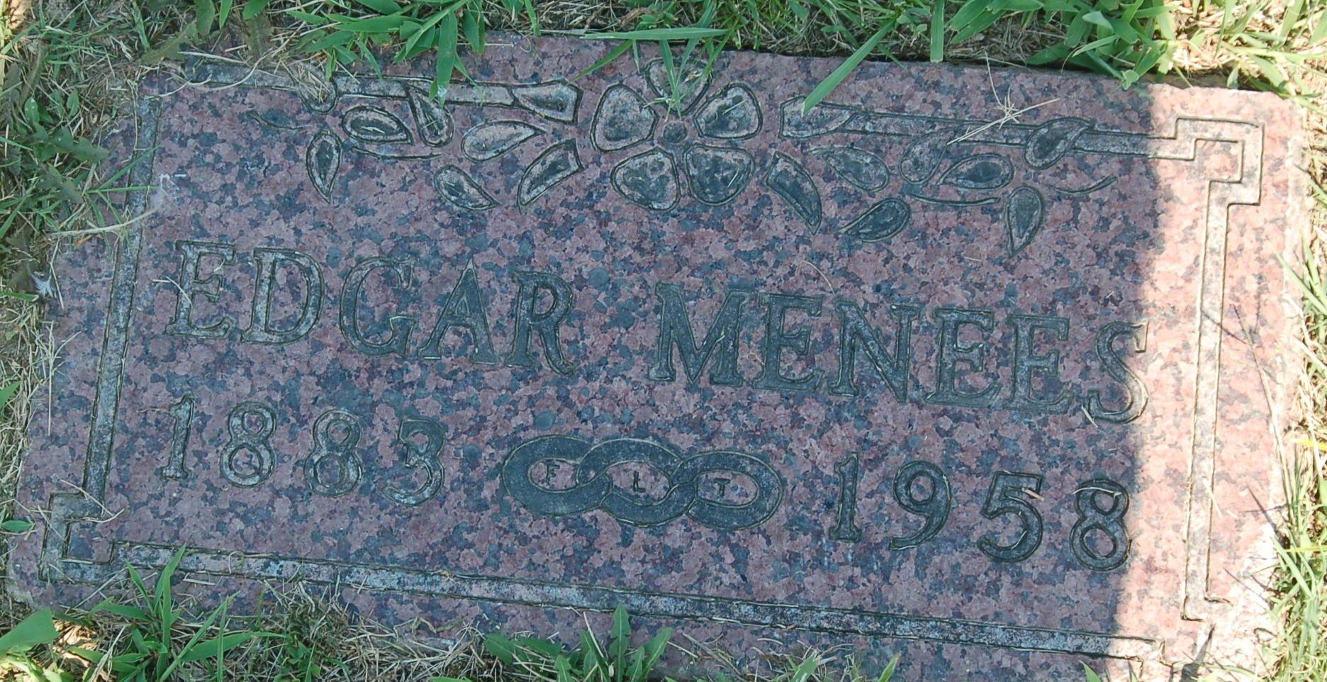her husband edgar menees died